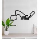 Sochi Autodrom Racing Circuit Wall Art on a Grey Wall