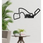 Sochi Autodrom Racing Circuit Wall Art Created out of Steel