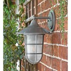 View of the Side of the Wall Light Mounted on a Brick Wall