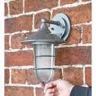 """South Shore"" Silver Standard Top Fix Wall Lantern to Scale"