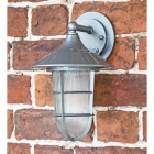 """South Shore"" Silver Standard Top Fix Wall Lantern in Situ on a Brick Wall"