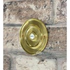 Sovereign Park Polished Brass Classic Bell Push On Brick Wall