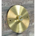 Sovereign Park Polished Brass Classic Bell Push Rear Contact Plate