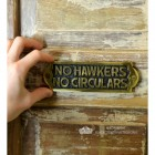 """No Hawkers No Circulars"" Sign to Scale"