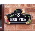 Hand Painted Flower Fairy House Name Sign