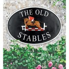 Show Jumper House Name Sign Personalised