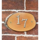 Natural Hard Wood Rustic House Number Sign - 17