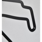 Close-up of the Black Finish of the Spa-Francorchamps Race Track Steel Wall Art