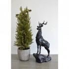 Highland Stag Ornament Finished in Deep Bronze