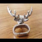 Stag Napkin Ring Holder Back