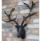 Stag Wall Bust With Gold Birds in Situ in the Home