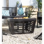 Contemporary Square Fire Pit Finished in Bronze