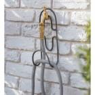 """Steel """"Hook"""" Wall Mounted Hose Holder in Situ"""