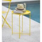 Steel Yellow Side Table in Situ