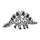 Geometric Iron Stegosaurus Wall Art Finished in Black