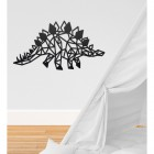 Geometric Iron Stegosaurus Wall Art in Situ in a Children's Play Room