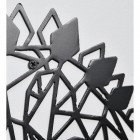 Close up of Geometric Iron Stegosaurus Wall Art