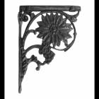Sunflower Iron Shelf Bracket Finished in Black