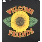 Sunflower Cast Iron Effect Oval House Name Sign