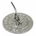 Bright Chrome 'Suns Tyne' Mini Sundial - 95mm