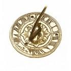 Polished Brass 'Suns Tyne' Mini Sundial - 95mm