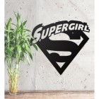 'Supergirl' Wall Art on a Rustic Wall