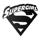 'Supergirl' Wall Art Finished in Black
