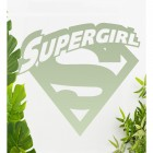 'Supergirl' Wall Art Finished in Light Green