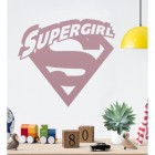 'Supergirl' Wall Art in Situ in the Home