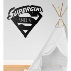 'Supergirl' Personalised Wall Art in a Children's Play Room