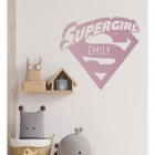 'Supergirl' Personalised Wall Art in a Children's Bedroom Play Room