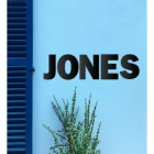 'JONES' Black Metal Lettering