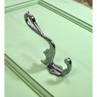 Bright Chrome Swan Coat Hook in Situ
