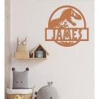 T-Rex Steel Monogram Name Sign Being Used as Wall Art Inside the Home