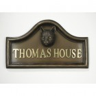 Domestic tabby Cat House Name Plaque