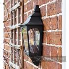 "Side View of the ""Tattershall Thorpe"" Black Half Wall Lantern"