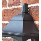"""Close-up of the Top of the """"Tattershall Thorpe"""" Black Half Wall Lantern"""