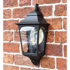Tattershall Thorpe Black Half Wall Lantern in Situ on a Brick Wall