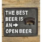 The Best Beer Is An Open Beer Cast Iron Bottle Opener