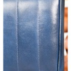 Close up of Blue Leather