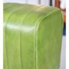 Close up of Green Leather
