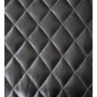 Close-up of the Diamond Pattern in the Black Leather
