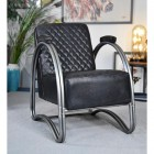 """""""The Bucknell"""" Iron & Black Leather in Situ in the Sitting Room"""