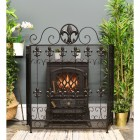 "The ""Chichester"" Victorian Fire Guard Finished in Black"