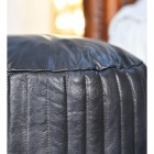 Close-up of the Black Leather