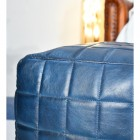 Close-up of the Blue Finished Leather