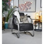 """""""The Bucknell"""" Iron & Black Leather in a Modern Sitting Room"""
