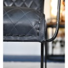 'The Harlington' Chair Black Leather With Black Frame