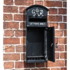 Front Opening Door on the The King George Post Box Slim In Black