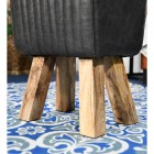 Close-up of the Mango Wood Legs on the Stool